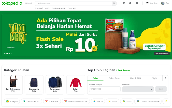marketplace tokopedia