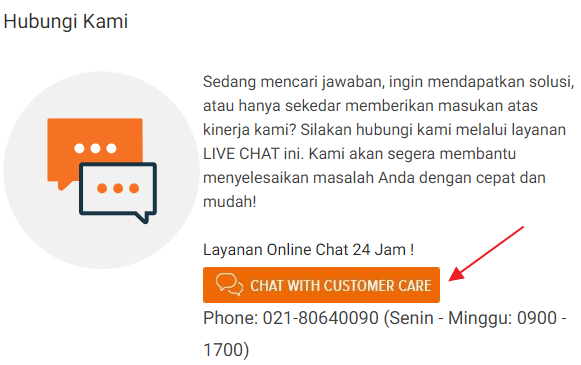 chat dengan customer care lazada